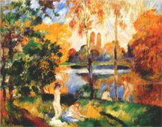 Landscape with female bathers - Pierre-Auguste Renoir