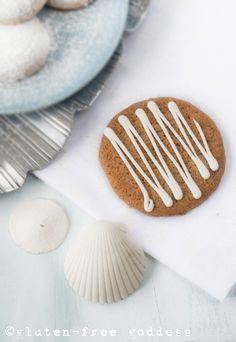 A crispy-chewy ginger thin with lemon icing (originally created for Allergic Living magazine by Karina Allrich)