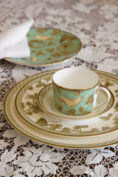 Golden Bird china by Wedgwood