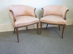 Pair of Hollywood Regency Barrel Back Chairs | eBayebay chairs