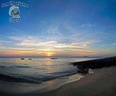 Beach Slipway Boaty Sunset Panorama     DonCharisma.org