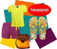 """""""Create #instantjoy with Havaianas"""" by s-m-e-y ❤ liked on Polyvore"""