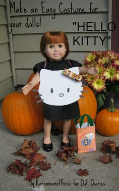 Hello Kitty costume for dolls