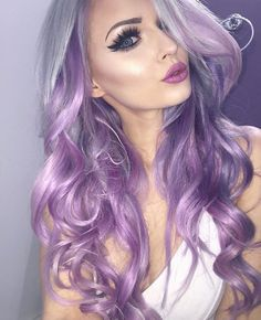 Arctic fox hair color- the color and the makeup tho