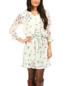 Another great find on #zulily! Ecru August Dress by La p'tite étoile #zulilyfinds
