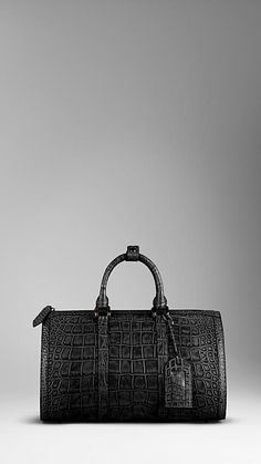 Polished Alligator Leather Holdall | Burberry