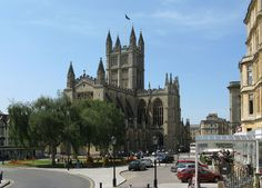 Bath abbey from the east.