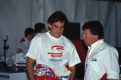 Ayrton Senna and Mario Andretti ❤️