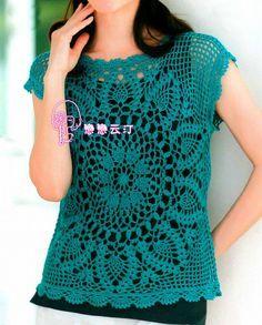 Tina's handicraft : blouses crochet More