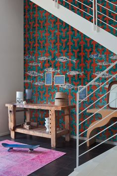Wall & Decò - Carte da parati per l'arredo contemporaneo - Fish Wish designer / Giovanni Pesce - WDFW1402