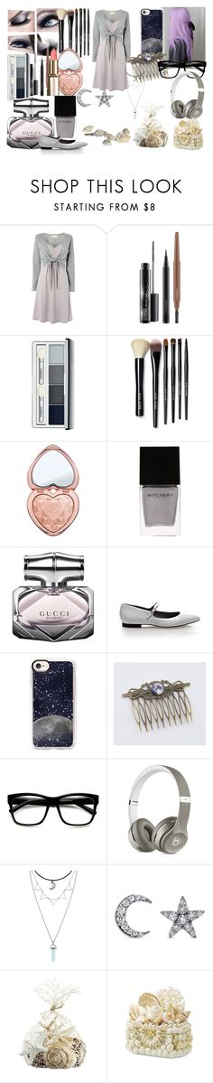 """Sem título #224"" by nunes-mirella on Polyvore featuring moda, MAC Cosmetics, Clinique, Bobbi Brown Cosmetics, Witchery, Gucci, Casetify, Hot Topic, Khai Khai e Crate and Barrel"
