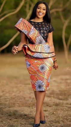 Ankara Short Gown, Ankara Skirt And Blouse, Latest Ankara Styles, Latest African Fashion Dresses, Different Dresses, Simple Dresses, Formal Dresses, Ankara Clothing, Clothing Styles