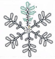 How to Making a paper snowflake with symmetry – Snowflakes WorldMartha Stewart Snowflake free crochet pattern - Free Crochet Snowflake Patterns - The Lavender Chair Free Crochet Snowflake Patterns, Crochet Stars, Christmas Crochet Patterns, Holiday Crochet, Crochet Snowflakes, Paper Snowflakes, Thread Crochet, Crochet Stitches, Christmas Knitting