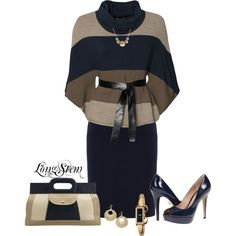 A fashion look from December 2013 featuring WalG sweaters, Lauren Ralph Lauren skirts y Pour La Victoire pumps. Browse and shop related looks.