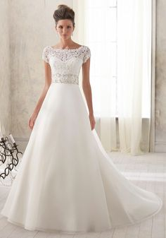 a line wedding gown - Choosing the dress - Which type of dress best fits your body shape