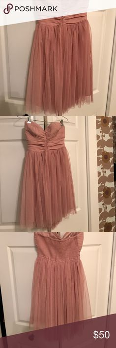Blush sweetheart neckline dress. Very romantic looking, never worn. Beautiful blush color. Fits 0-2. Band of Gypsies Dresses Mini