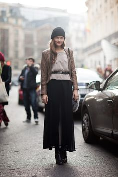 Maxi Skirt Love - Cold front in the MIA. Definitely gonna bust our my maxi skirt! Love this look!