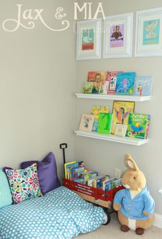 Reading Corner....use regular pillows for boys reading corner in their room