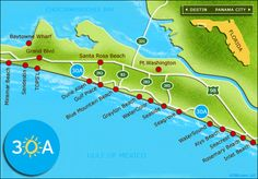 Map Of 30A Florida | Not Just A Pretty Face: 30A- Where I'll be this weekend.....!!!