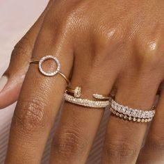 Hand Jewelry, Dainty Jewelry, Cute Jewelry, Luxury Jewelry, Diamond Jewelry, Jewelry Accessories, Fashion Accessories, Jewelry Rings, Stackable Diamond Rings