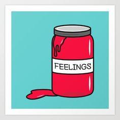 Feelings in a Jar Art Print by cartoonbeing Jar Art, Or, Fine Art Prints, Feelings, Glass Art, Art Prints