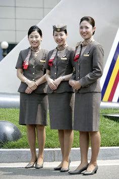 World stewardess Crews: The pretty stewardess in Asiana 아시아나 스튜어디스 Flight Girls, Airline Cabin Crew, Military Women, Girls Uniforms, Flight Attendant, Role Models, Female, Lady, Skirt