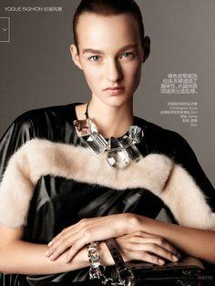 nice Vogue China December 2014 | Maartje Verhoef by Daniel Jackson [Editorial]