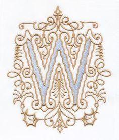 Vintage Royal Alphabet  Accent Designs (2013 Alphabets) W monogram