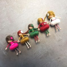 We know it is still early, but we have to prepare our #fairies for a #christmas #exhibition - here are the first five #dorimu fairies waiting for their #golden #shoes and #swings 🍂 we wish you a nice #sunday! 🍂