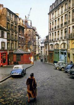Rue de la Montagne-Sainte-Geneviève, à la fin des années 50' Photo Erwin Blumenfeld