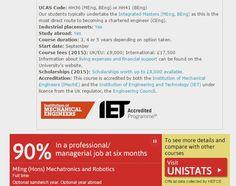 Mechatronics and Robotics Degree - Undergraduate - School of Electronic and Electrical Engineering - University of Leeds