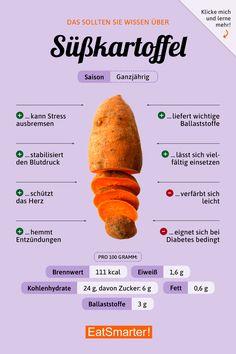 Das solltest du über Süßkartoffeln wissen | eatsmarter.de #ernährung #infografik #süßkartoffel