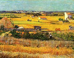 [명화산책] 반 고흐, 라 크라우의 추수 RT @5thavenueartist: Harvest at La Crau by Van Gogh 1888 pic.twitter.com/42TJHQnArV 오늘은 반 고흐가 태어난 날