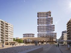 Gallery of Neutelings Riedijk Architects Imagines One of the Highest Towers Along the Belgian Coast - 1 Amazing Architecture, Architecture Design, Architectural Engineering, Grand Hotel, Beach Resorts, Building Design, Belgium, Facade, Skyscraper