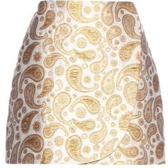 Stella McCartney Beth Paisley Jacquard Miniskirt (19.060 RUB) ❤ liked on Polyvore featuring skirts, mini skirts, saia, white, white skirt, stella mccartney, short skirts, short mini skirts and paisley print skirt
