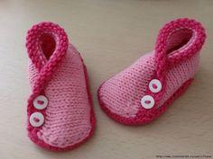 Chaussons Kimonos - tuto Idées Pour Bébés, Tricot Fille, Tricot Enfant,  Tuto Tricot 52f3649f537