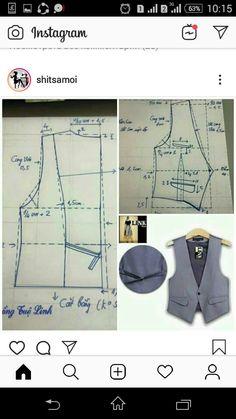 Indian Designer Wear, Sewing Patterns, How To Wear, Diy, Instagram, Pattern Cutting, Sweater Vests, Dressmaking, Jacket