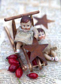 Vintage mini dolls