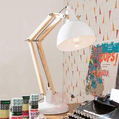 Weiße Schreibtischlampe Work Station mit Holz-Schreibtischleuchten-5517434-30