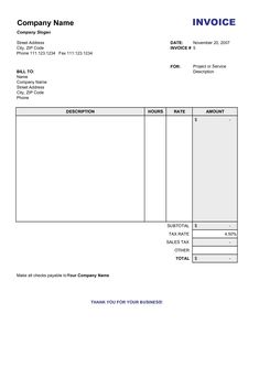 11 self employed invoice template uk 7 | invoice | pinterest | free, Invoice templates