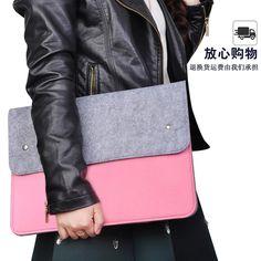 戴尔联想笔记本内胆包15.6电脑包14寸女苹果13.3华硕11毛毡三星12 Macbook Air Cover, Bags, Fashion, Handbags, Moda, Fashion Styles, Taschen, Fasion, Purse