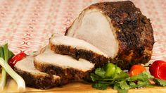 Jerk Roast Pork - Recipes - Best Recipes Ever - Jerk food is peppery with allspice. Several cuts of pork work well. Pork shoulder or roasts are moist and tasty but not as attractive as easy-to-carve loin rib crown-style roasts that are partially boned. Best Pork Roast Recipe, Cuban Pork Roast, Pork Roast Recipes, Pork Ham, Pork Meals, Best Food Ever, Pork Dishes, Food Inspiration, Good Food