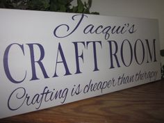 Custom Wood Sign Personalized #Craft Room #Sign