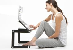 WorkEZ Executive - an amazingly useful stand for laptops, tablets, books & monitors - by Uncaged Ergonomics ($74.99)