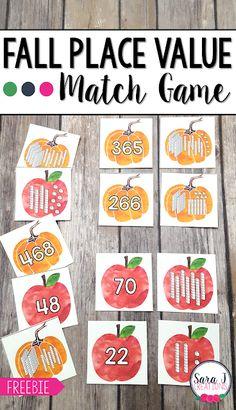 Place Value Math Games, Place Value Centers, 2nd Grade Activities, 2nd Grade Math Games, Math Classroom, Kindergarten Math, Math Math, Elementary Math, Upper Elementary