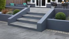 Casarta Slate Garden Steps - All About Back Garden Design, Modern Garden Design, Backyard Garden Design, Patio Design, Backyard Patio, Backyard Landscaping, Landscaping Ideas, Garden Slabs, Slate Garden