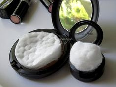 Travel tip! Add a cotton ball or cotton pad to your makeup to keep them from breaking when traveling.