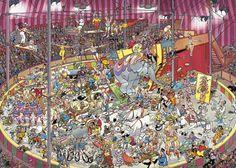 The circus- Jan van Haasteren, love his puzzles <3