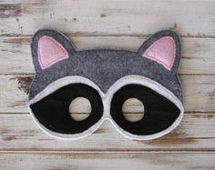 Monkey Mask Animal Felt Kids Mask Costume door AnnsCraftHouse