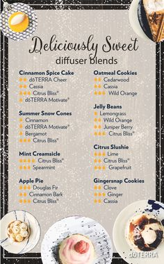 """It's the middle of the week, and sometimes the day can drag. Try an uplifting """"Deliciously Sweet"""" diffuser blend to lighten up your day!"""